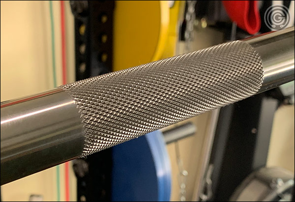 Center knurl of the Vulcan Elite Power Bar