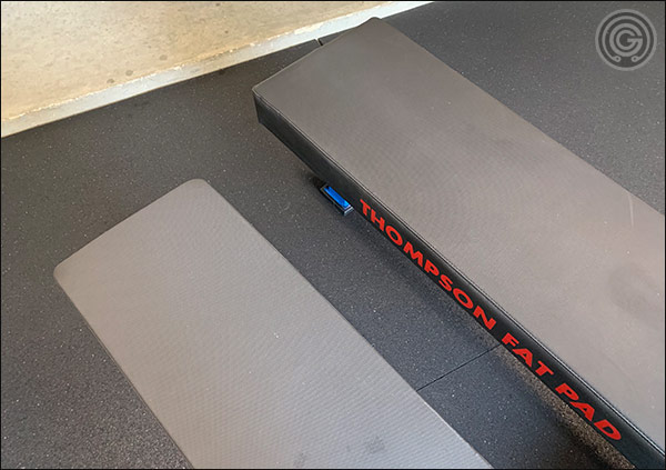 "The FB-4000 at 12"" wide and 45"" long versus the 14.5"" wide and 50"" long Fat Pad"