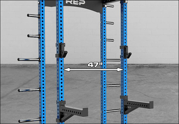 """The Rep HR-5000 has a 47"""" front upright opening rather than a 49"""" opening"""