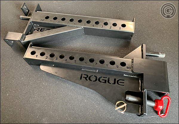 Rogue's Monster Safety Spotter Arms versus the HR-5000's Safety Spotter Arms