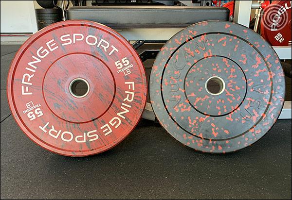 Fringe Sport Savage Bumper Plates vs Vulcan Alpha Bumper Plates