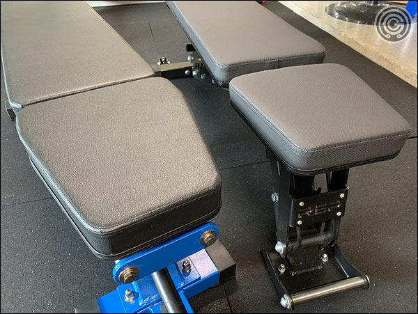The AB-5000 (left) has a huge seat, whereas the seat on the Rep AB-5200 is more compact (and more comfortable in mid-incline positions)