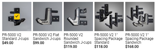Accessory Selection includes the prices of all options, not just the difference in price.