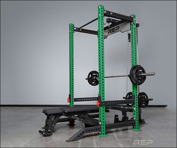 Rep Fitness PR-5000 V2 Power Rack in Green