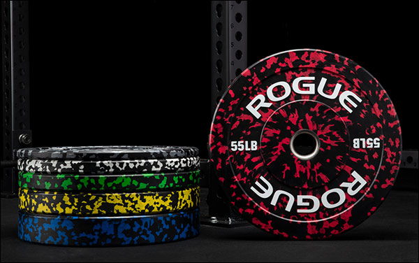 Rogue Fitness Fleck Color Bumper Plates