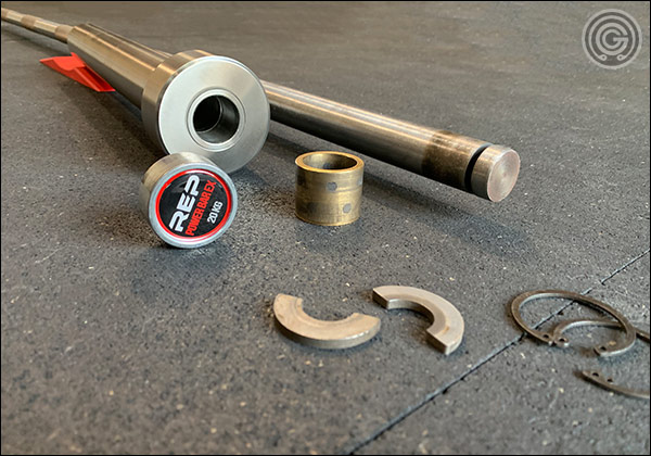 Each sleeve of the Deep Knurl Power Bar contains one bronze and one stainless steel bushing.
