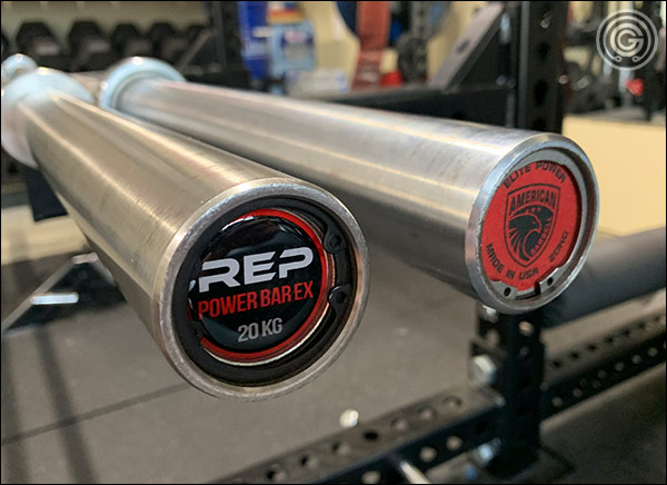Rep Deep Knurl Power Bar EX vs the American Barbell Elite Power Bar