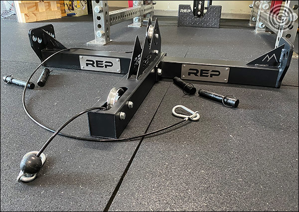 Rep Fitness Belt Squat Attachment for PR-5000 Power Racks - Uninstalled