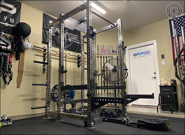 My PR-5000 V2 Power Rack with all the fixings - including the Belt Squat Attachment