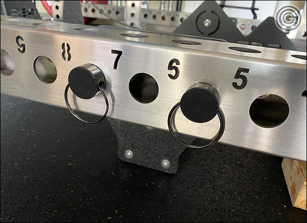 Lining up holes on both side is easy thanks to the numbered holes