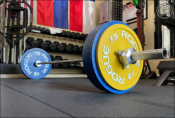 The Texas Body Building Bar is a great bar for deadlifts and heavy rows