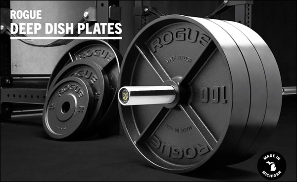 Rogue Fitness American-Made Deep Dish Iron Plates