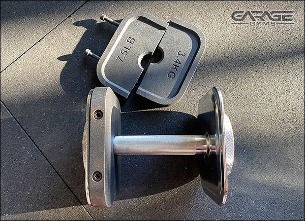 the Ironmaster Quick Lock Dumbbells Heavy Handle Kit
